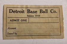 Vintage 1910 Ticket/pass Detroit Tigers Ty Cobb