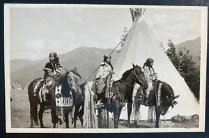 Mint Usa RPPC Real Picture Postcard Native American Indian  Girls