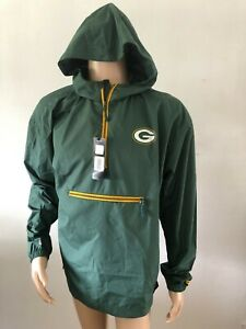 NFL Green Bay Packers Herren Windbreaker Grün Gr. L Neu S3115