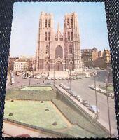 Belgium Brussel Bruxelle Collegiale Sainte Gudule - posted 1958