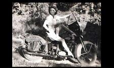 Vintage Sexy Harley Davidson Motorcycle Girl PHOTO Rider Hot Pinup Barefoot Legs