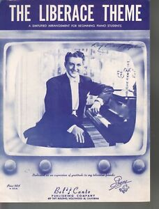 Liberace Theme 1955 Simplified Version Sheet Music