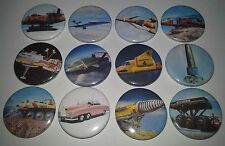 12 Thunderbirds Badges 1 2 3 4 5 Firefly The Mole Fab Fireflash Helljet Stingray