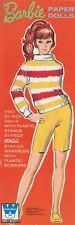 VINTAGE 1969 BARBIE MAGIC PAPER DOLLS ~WHITMAN~UNCUT ORIG SZ LASER REPRODUCTION