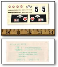 Vintage 1/32 Cox Eldon Boyd Jefferies McLaren Slot Car Water Slide Decal #31314