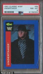 1991 Classic WWF #64 Undertaker PSA 8 NM-MT