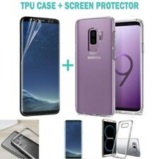 Galaxy S9 S9 Plus Case Friendly Full Screen Protector Film+TPU Cover For Samsung
