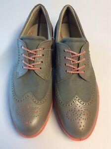 Golfschuhe Damen Ecco Hybrid Classic Tex Größe EU 38 Farbe Brown/grau NEU