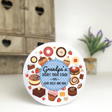 Personalised Biscuit/Sweet/Cake Tin Father's Day Birthday  (Treat Stash)