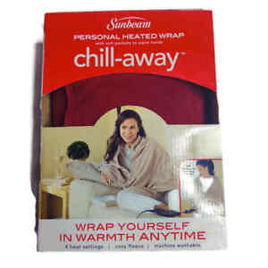 Sunbeam Personal Heated Wrap w/Soft Pockets to Warm Hands Chill-Away New