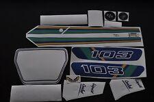 kit autocollant peugeot 103 rcx ph1 bleu  MOB037