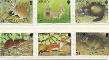 Jersey-Mammals set of 6 mnh