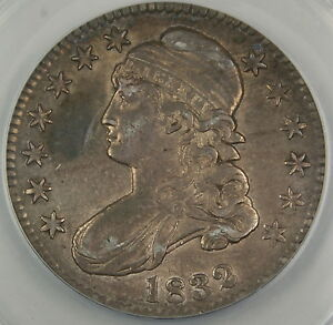 1832 Bust Silver Half Dollar O-112 ANACS AU-50 Details - Altered Surfaces
