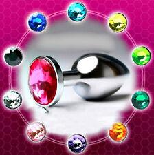 Plug Metal butt type rosebud Stainless Steel Crystal Jewelry - Random Colors - S