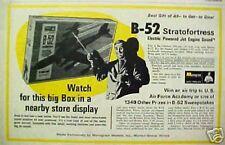1968 Monogram B-52 Stratofortress Model Airplane Oddball Toy Promo Paper Art Ad