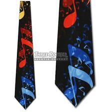 Music Notes Tie Giant Neckties Colorful Treble Orchestra Neck Ties Brand New