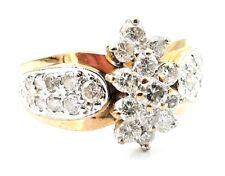 14 Karat Yellow & White Gold 1.50 Carat Diamond Cocktail Ring