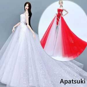 """High Fashion Clothes Wedding Dress For 11.5"""" Doll Outfits Evening Party Gown 1/6"""