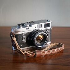 Braided Brown Leather Camera Hand Wrist Strap - Horween Chromexcel