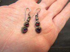 Amythyst  sterling silver earrings