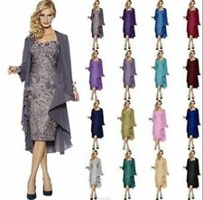 New Lace Mother of the Bride Outfits Short Wedding Party Formal Dress Jacket