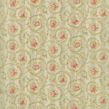 Dollhouse Miniature Shabby Chic Wallpaper Green Floral 1:12