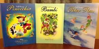 Walt Disney's Story Book Favorites Readers Digest Peter Pan Bambi Pinocchio Set