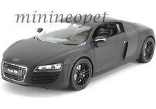 WELLY 22493 AUDI R8 1/24 DIECAST MODEL CAR MATTE BLACK