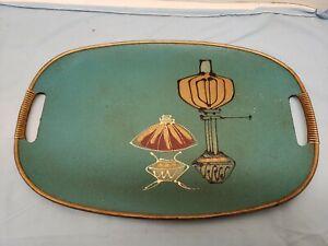 Vintage Mid Century Modern Wood Vanity Tray
