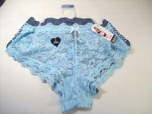 NEW WOMEN'S SMART & SEXY 3 PACK CHEEKSTER PANTIES 9 XXL AQUA LEOPARD PRINT BLUE