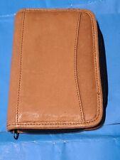 Leather Zippered Day Plannerorganizernotebook Light Brown