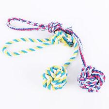 Puppy Dog Pet Toy Cotton Braided Ball Bone Rope Chew Knot Dental Teeth  New.