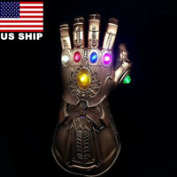 US! Avengers Infinity War Thanos LED Light Gauntlet Gloves Cosplay Costume Prop