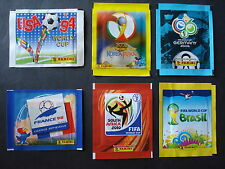 PANINI 6 POCHETTES BUSTINE PACK TUTE WORLD CUP 1994 1998 2002 2006 2010 2014