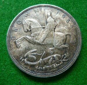 1935 GEORGE V  ROCKING HORSE CROWN - VF - TONED