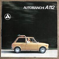 1972 Autobianchi A112 original Dutch sales brochure