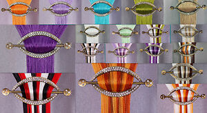 """Beautiful Colorful String Net Curtains Window, Door Home Decoration 98"""" x 118"""""""