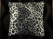 Snow Leopard Pillow Cover Faux Fur Pillow 14x14 (set of 2)