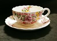 COPELAND SPODE CUP and SAUCER SET - FAIRY DELL - EUC!!!! , Colorful!