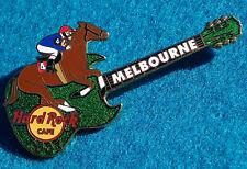 *MELBOURNE CUP* HORSE RACE & JOCKEY SG GIBSON GUITAR 2007 Hard Rock Cafe PIN LE