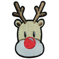 ReinDeer Christmas Iron On Patch Sew On Badge Embroidered Cloth Patch