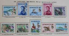 DOMINICA QEII 1963-66 Definitives 1c - $4.80 (17) SG162-78 & 200-4 (5) Fine Used