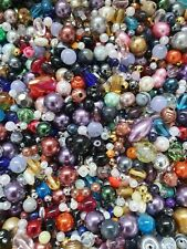 Mixed Assortment of Glass & Acrylic Beads From 4mm - 10mm (50g Bag)