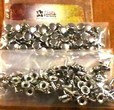100 Pack of NICKEL Plate SMALL RAPID RIVETS 1271-12 Tandy Leather Rivet