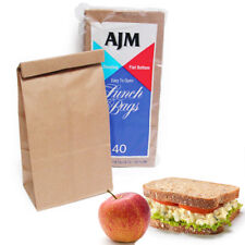 40 Pc Paper Bags Sandwich Container Snack Food Party favors Lunch Bag Grocery
