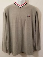 Tommy Jeans Mens Small Gray Long Sleeve Sweatshirt Hilfiger EUC
