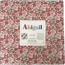 "Abigail  42- 10"" squares *Fabric Layer Cake 100% Cotton, Quilting Precut Pre-Cut"