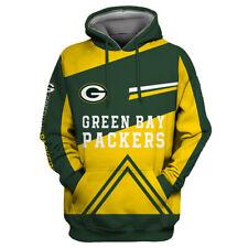 Green Bay Packers Hoodies Football Sweatshirt Pullover Fans Casual Jacket Coat
