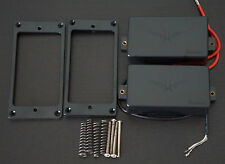 Set of IBANEZ GRG121DX Humbucker  Guitar Neck Bridge PICKUPS with BLACK COVER