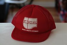 Rare Vintage Car Quest Auto Parts Stores Red Mesh Trucker Snapback Hat Cap